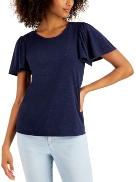 Style&Co. Style & Co Angelina Flutter-Sleeve Top, Created for Macy's