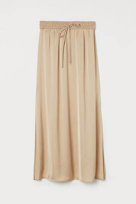 H&M Ankle-length satin skirt