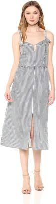 Ali & Jay Women's Drinks on ME Striped a Line Midi Dress with Pockets