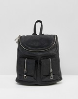 Asos Mini Backpack With Zip Pocket Detail