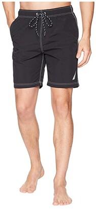 Nautica New Anchor Swim Trunk (True Black) Men's Swimwear