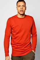 boohoo Basic Crew Neck Sweatshirt burnt orange