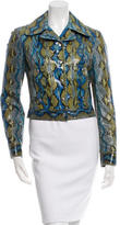 Michael Kors Fitted Snakeskin Jacket w/ Tags