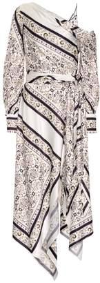 Jonathan Simkhai Floral faille dress
