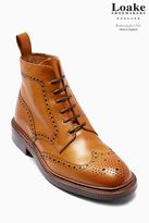 Next Tan Loake Brogue Boot