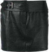 Versus mini skirt - women - Lamb Skin/Polyester - 38