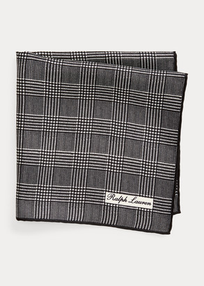 Ralph Lauren Glen Plaid Silk Pocket Square