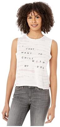 good hYOUman Lili Chill with My Dog Tank (Shell Alligator) Women's Clothing