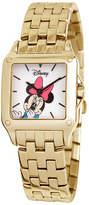 Disney Princess Disney Minnie Mouse Womens Gold-Tone Watch