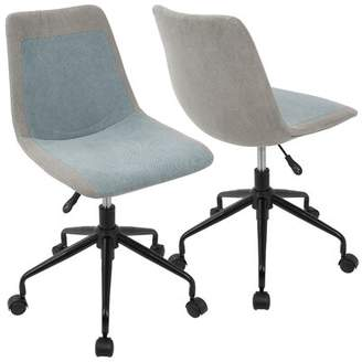 Paxton Task Chair Wrought Studio Upholstery Color: Grey Blue Denim