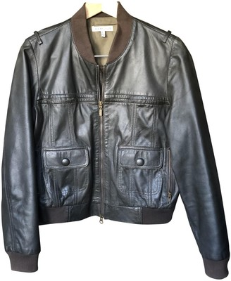 See by Chloe Khaki Leather Leather Jacket for Women