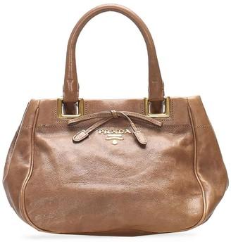 Prada Pre-Owned Logo-Plaque Shoulder Bag