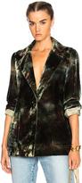 Raquel Allegra Classic Blazer in Green,Ombre & Tie Dye.