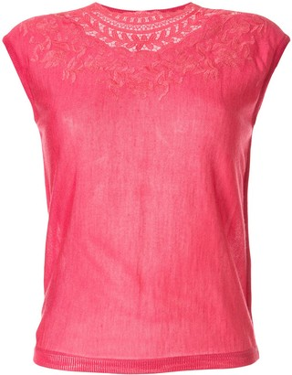 Giambattista Valli embroidered neck T-shirt
