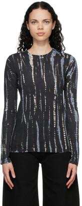 Proenza Schouler Black and Blue Jersey Tie-Dye T-Shirt