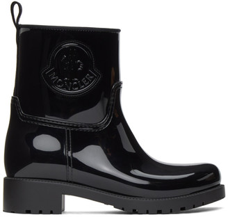 Moncler Black Ginette Rubber Boots
