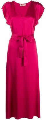 Twin-Set Frill Sleeved Midi Dress