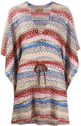 Missoni Mare Striped Tie-Waist Kimono Dress