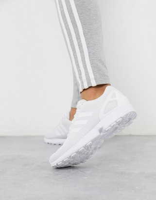 adidas ZX Flux trainers in white