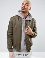 Puma Padded Bomber Jacket in Green 57445802