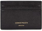 Common Projects Black Saffiano Leather Card Holder