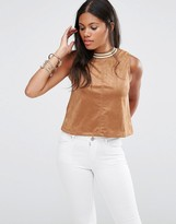 Glamorous Faux Suede Crop Top