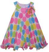 Iris & Ivy Polka Dot Pleated Halter Dress