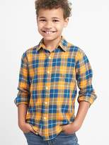 Plaid flannel long sleeve shirt