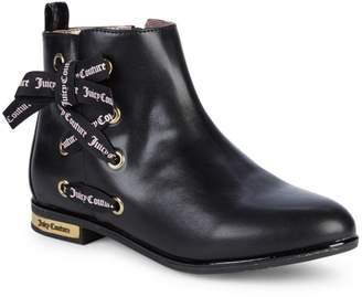 Juicy Couture Girl's Side Ribbon Lace-Up Booties