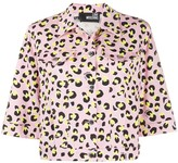 Love Moschino leopard print cropped jacket
