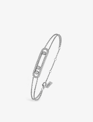 Messika Gold Move 18ct white-gold and pave diamond bracelet