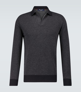 Loro Piana Buttonless cashmere polo shirt