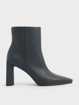 Charles & Keith Blade Heel Ankle Boots