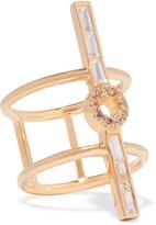 Elizabeth and James Eva gold-tone crystal ring