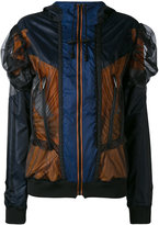Maison Margiela mesh panel jacket - women - Polyamide/Polyester - 40