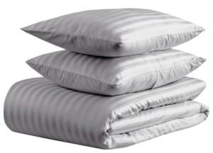 Enviohome 500 thread count Damask Stripe Duvet Set, Full/Queen Bedding