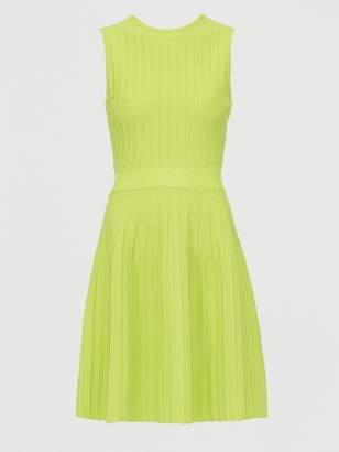 Ted Baker Stitch Detail Knitted Sleeveless Dress - Lime