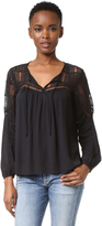 BB Dakota Renna Peasant Top with Lace