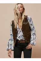 Understated Leather Womens STUDDED SUEDE VEST