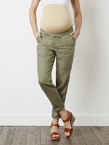 """Vertbaudet Maternity Harem-Style Linen Trousers, Inside Leg 28"""""""
