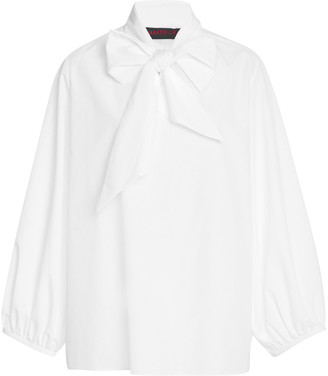 Martin Grant Blouson-Sleeve Cotton Blouse