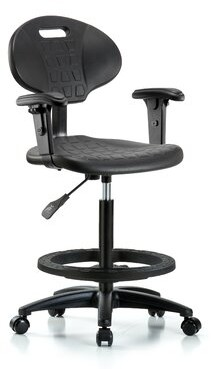 Symple Stuff Jaycee Drafting Chair Casters/Glides: Casters