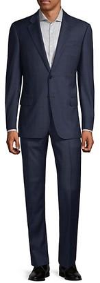 Armani Collezioni G-Line Fit Windowpane Wool Suit