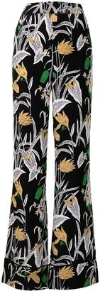 Diane von Furstenberg Federica botanical-print palazzo trousers