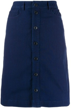 A.P.C. button-through A-line skirt