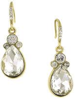 1928 Jewelry 1928 Crystal Gold-Tone Teardrop Earrings