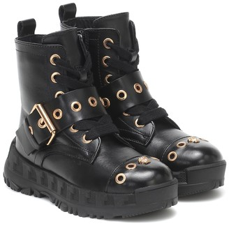 Versace Kids Leather ankle boots