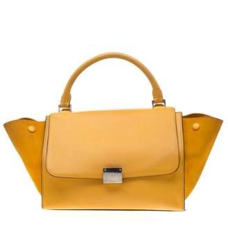 Celine Trapeze Yellow Leather Handbags