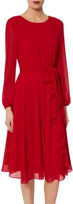 Gina Bacconi Page Long Sleeve Chiffon Dress