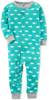 Carter's 1-Pc. Shark-Print Cotton Pajamas, Baby Boys